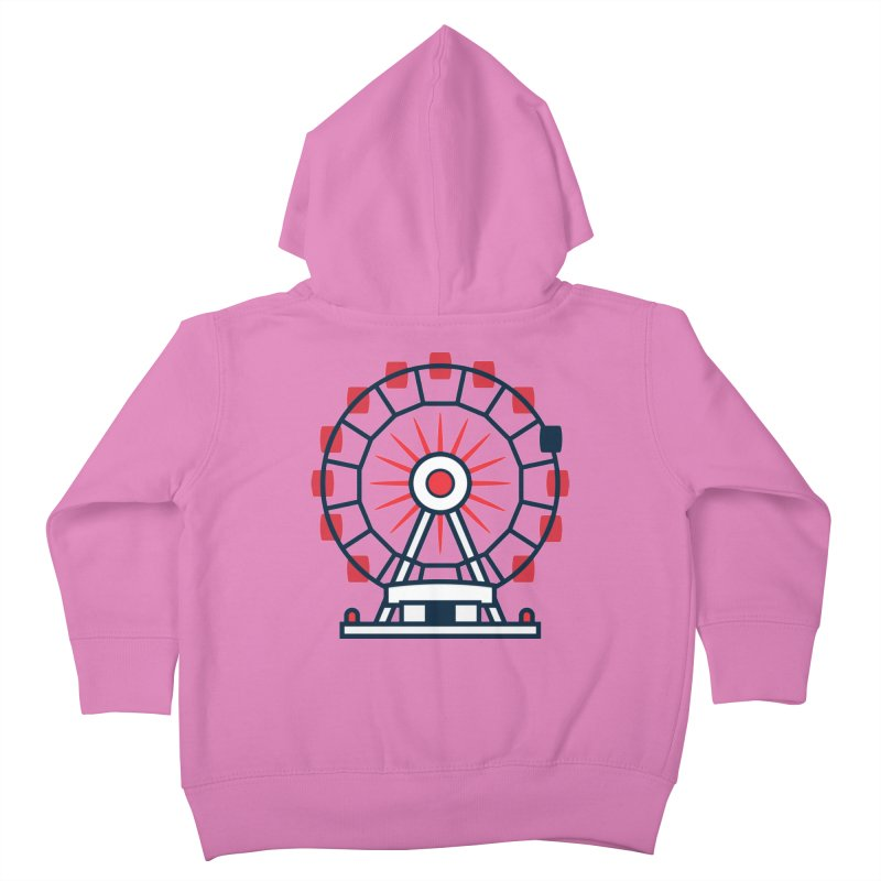 Atlanta Ferris Wheel Kids Toddler Zip-Up Hoody by