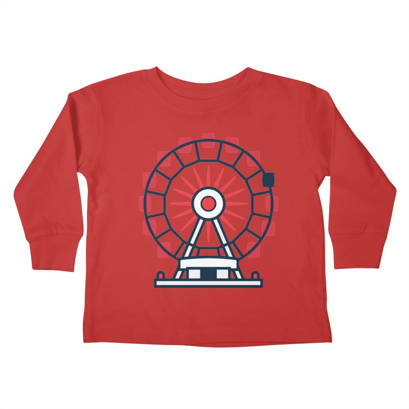 Atlanta Ferris Wheel Kids Toddler Longsleeve T-Shirt by