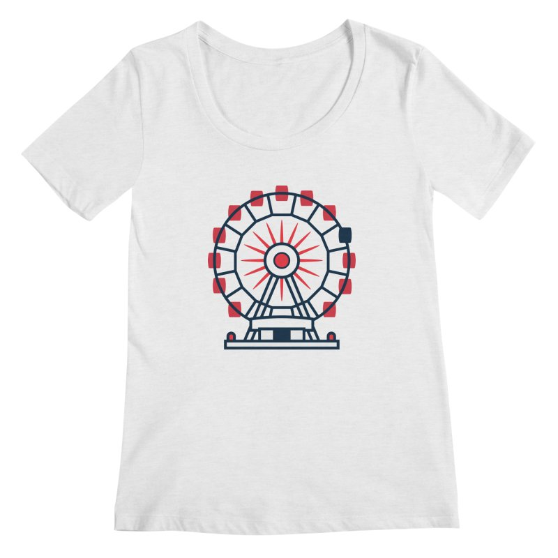 Atlanta Ferris Wheel Women's Regular Scoop Neck by