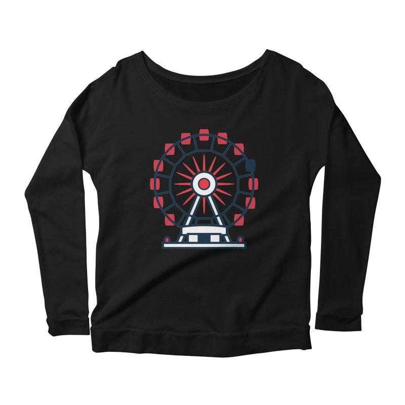 Atlanta Ferris Wheel Women's Scoop Neck Longsleeve T-Shirt by