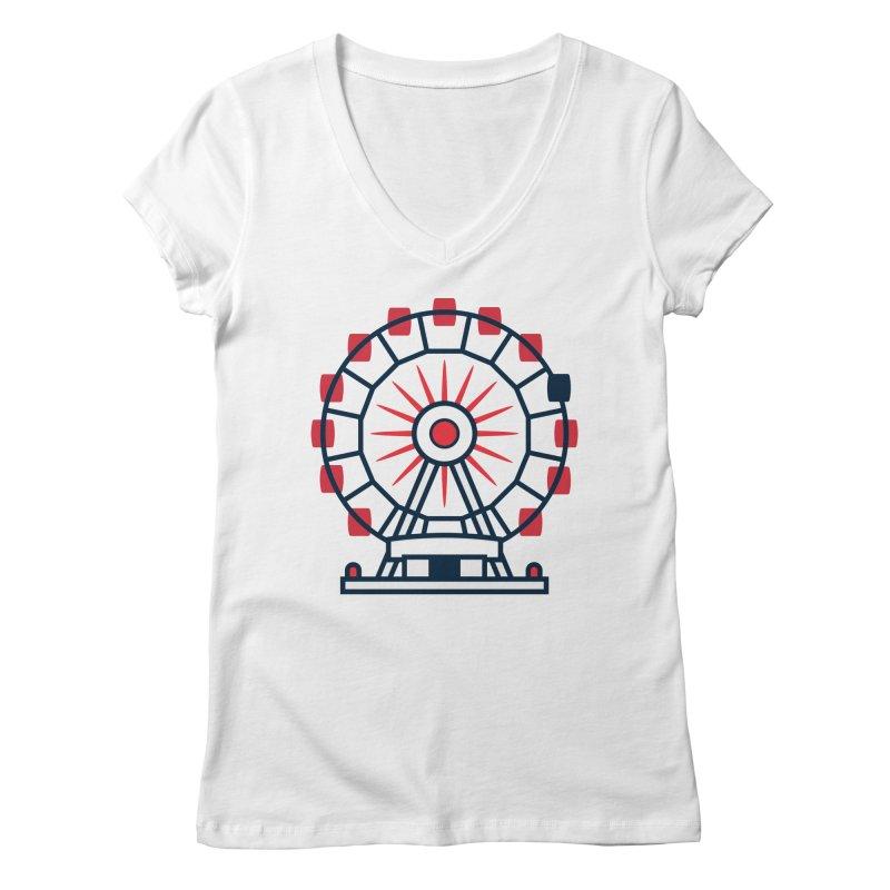 Atlanta Ferris Wheel Women's Regular V-Neck by