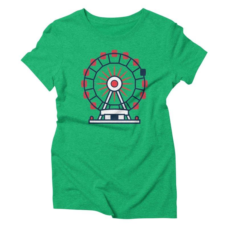 Atlanta Ferris Wheel Women's Triblend T-Shirt by