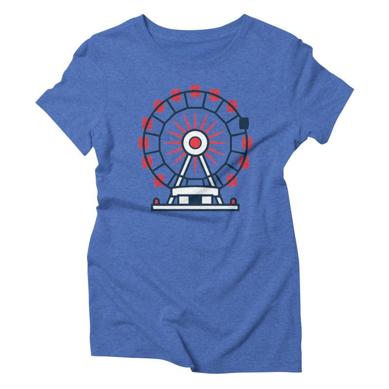 Atlanta Ferris Wheel Women's Triblend T-Shirt by
