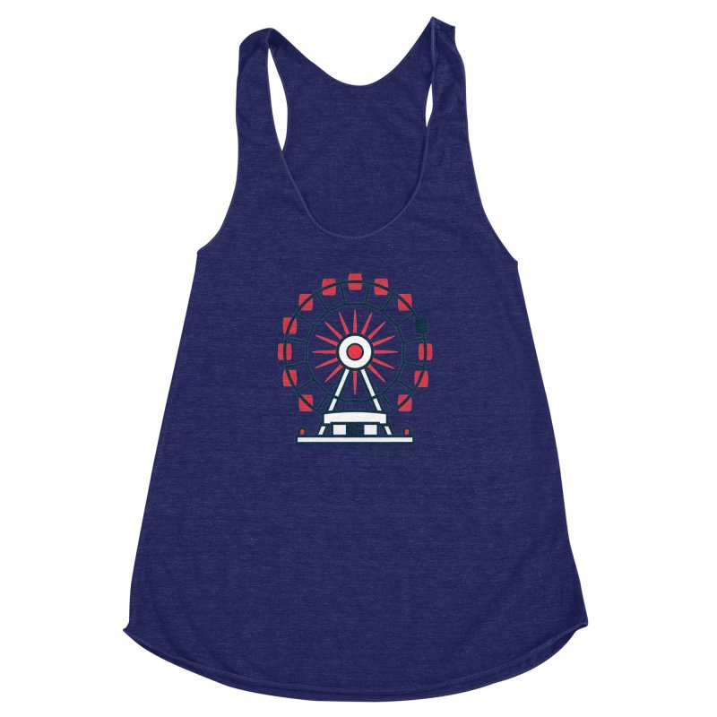Atlanta Ferris Wheel Women's Racerback Triblend Tank by