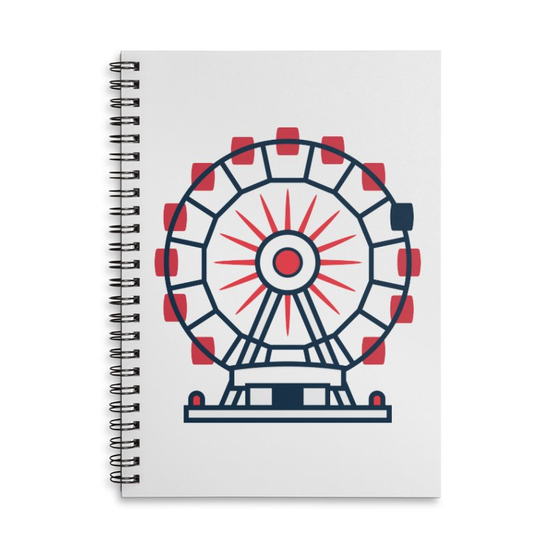 Atlanta Ferris Wheel Accessories Lined Spiral Notebook by