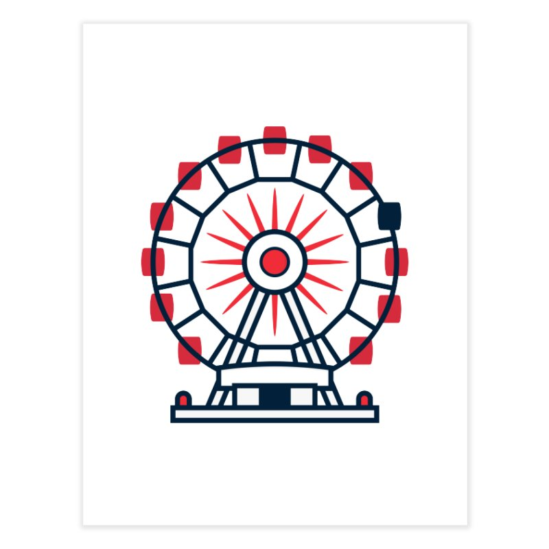 Atlanta Ferris Wheel Home Fine Art Print by