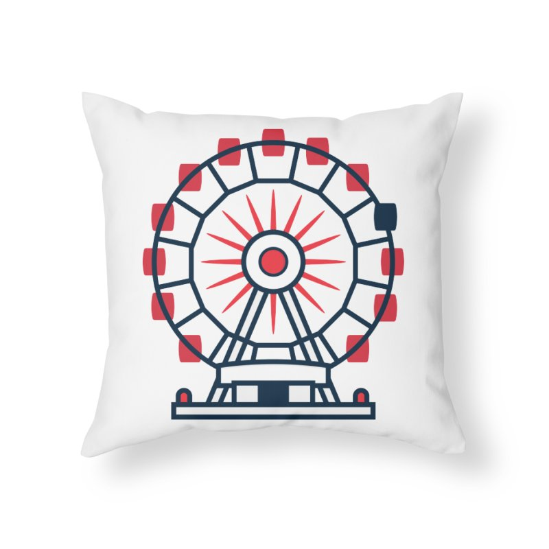 Atlanta Ferris Wheel Home Throw Pillow by