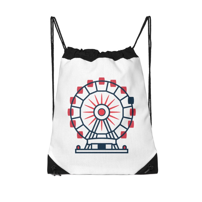 Atlanta Ferris Wheel Accessories Drawstring Bag Bag by