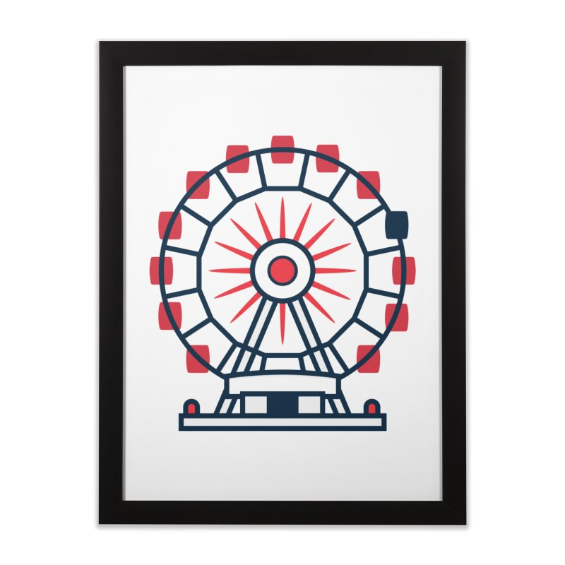 Atlanta Ferris Wheel Home Framed Fine Art Print by