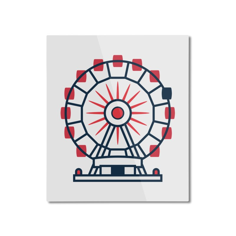 Atlanta Ferris Wheel Home Mounted Aluminum Print by
