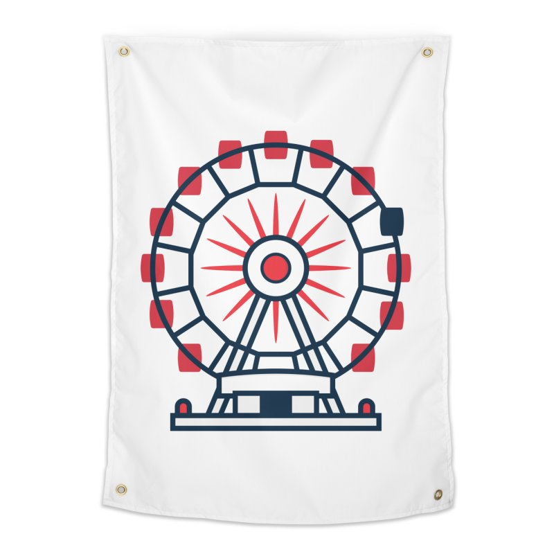 Atlanta Ferris Wheel Home Tapestry by