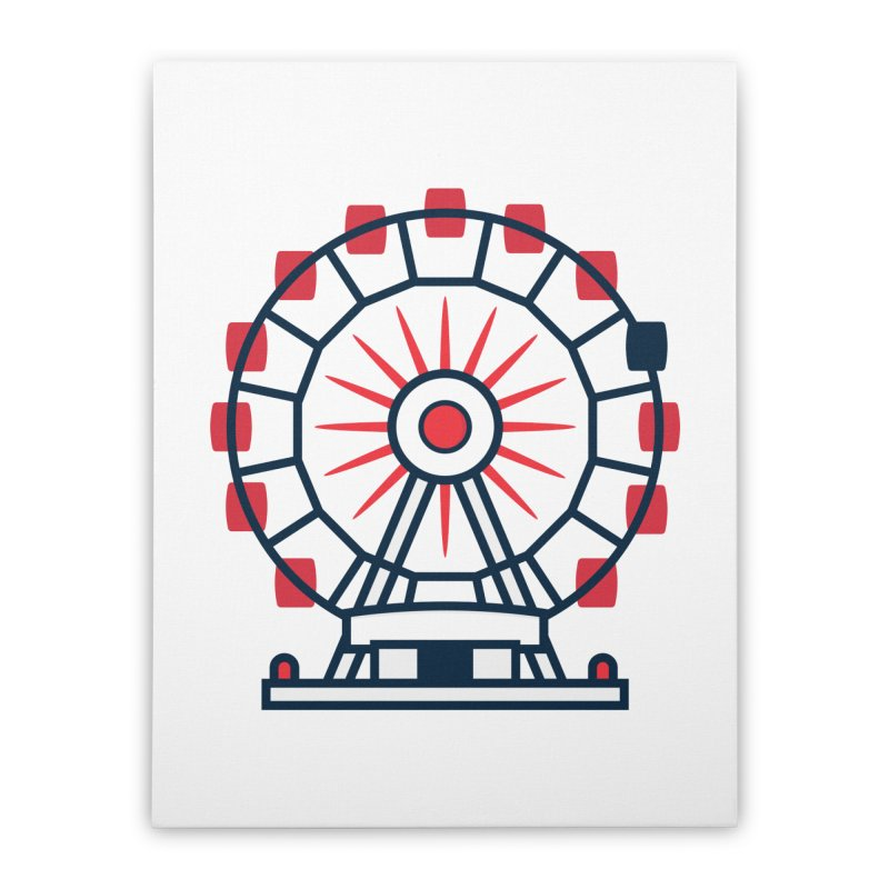 Atlanta Ferris Wheel Home Stretched Canvas by