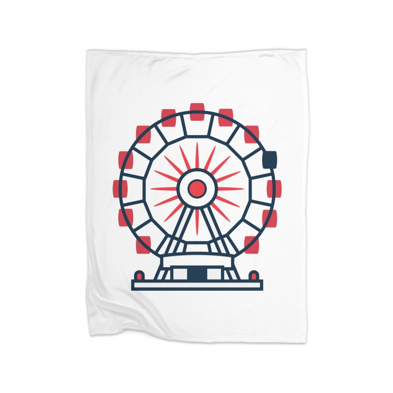 Atlanta Ferris Wheel Home Fleece Blanket Blanket by