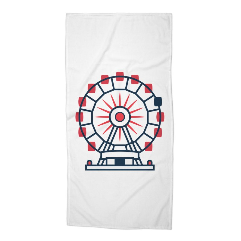 Atlanta Ferris Wheel Accessories Beach Towel by