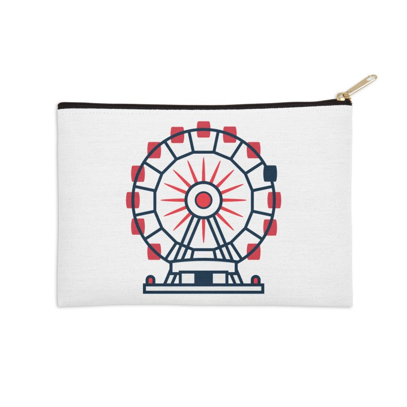 Atlanta Ferris Wheel Accessories Zip Pouch by