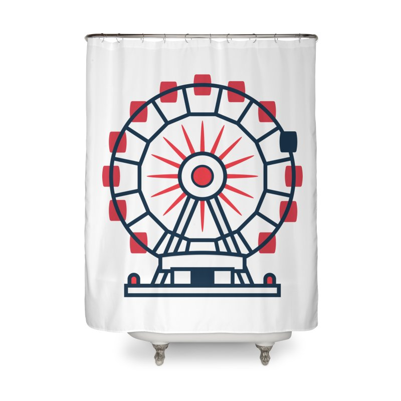 Atlanta Ferris Wheel Home Shower Curtain by