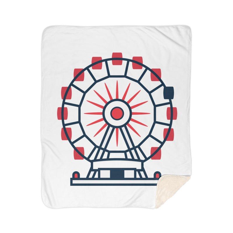 Atlanta Ferris Wheel Home Sherpa Blanket Blanket by