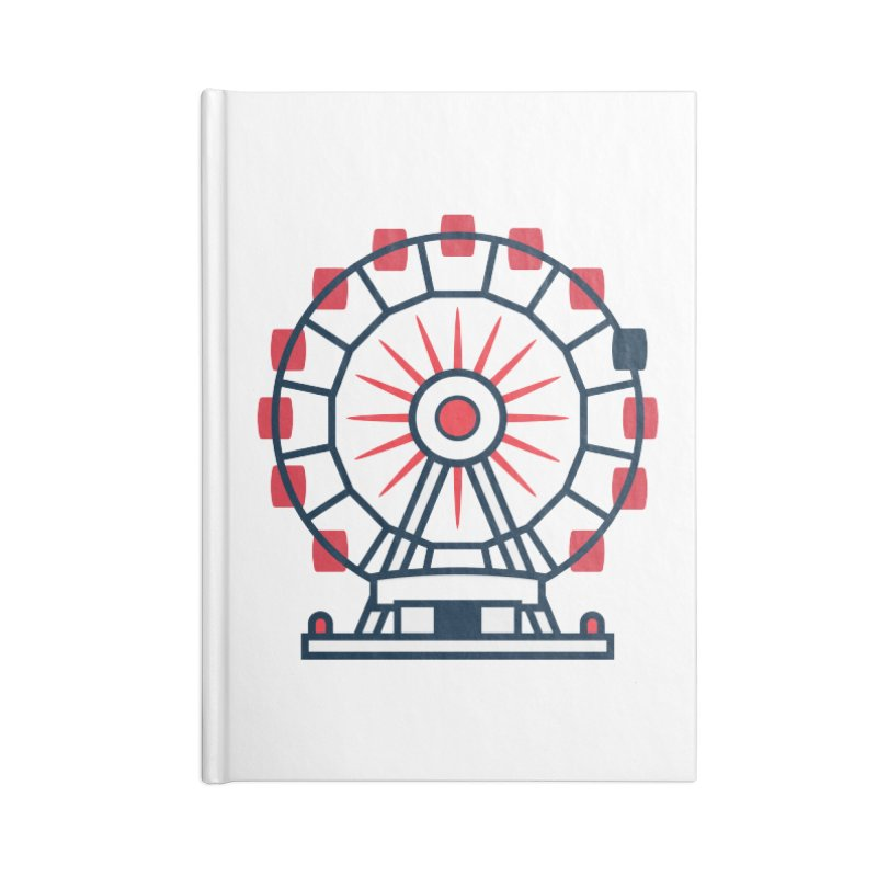 Atlanta Ferris Wheel Accessories Lined Journal Notebook by