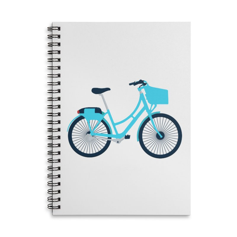 Bike Accessories Lined Spiral Notebook by