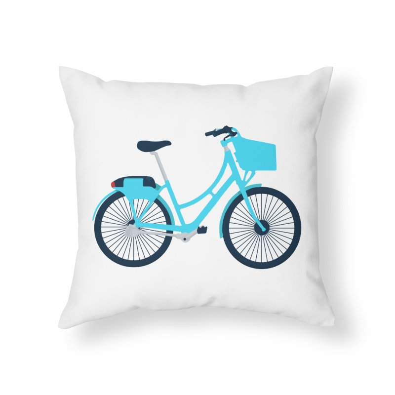 Bike Home Throw Pillow by