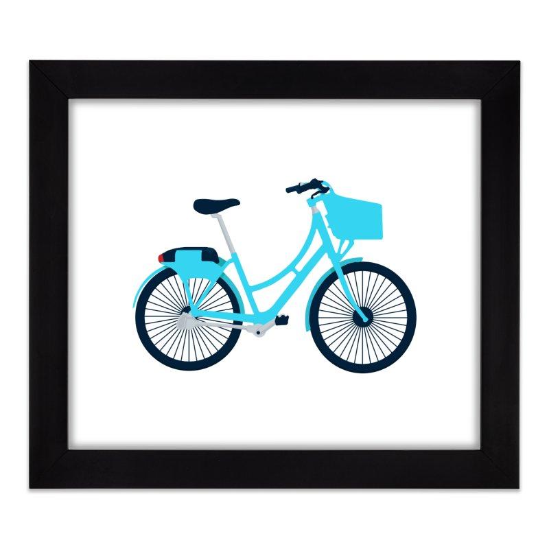 Bike Home Framed Fine Art Print by