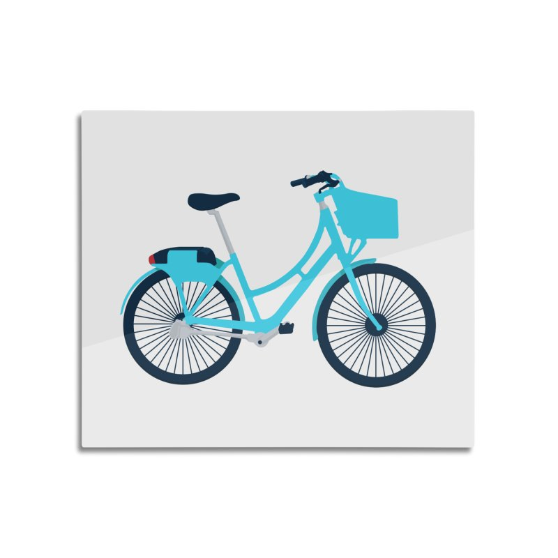 Bike Home Mounted Aluminum Print by
