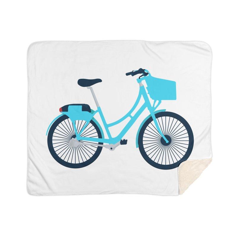 Bike Home Sherpa Blanket Blanket by