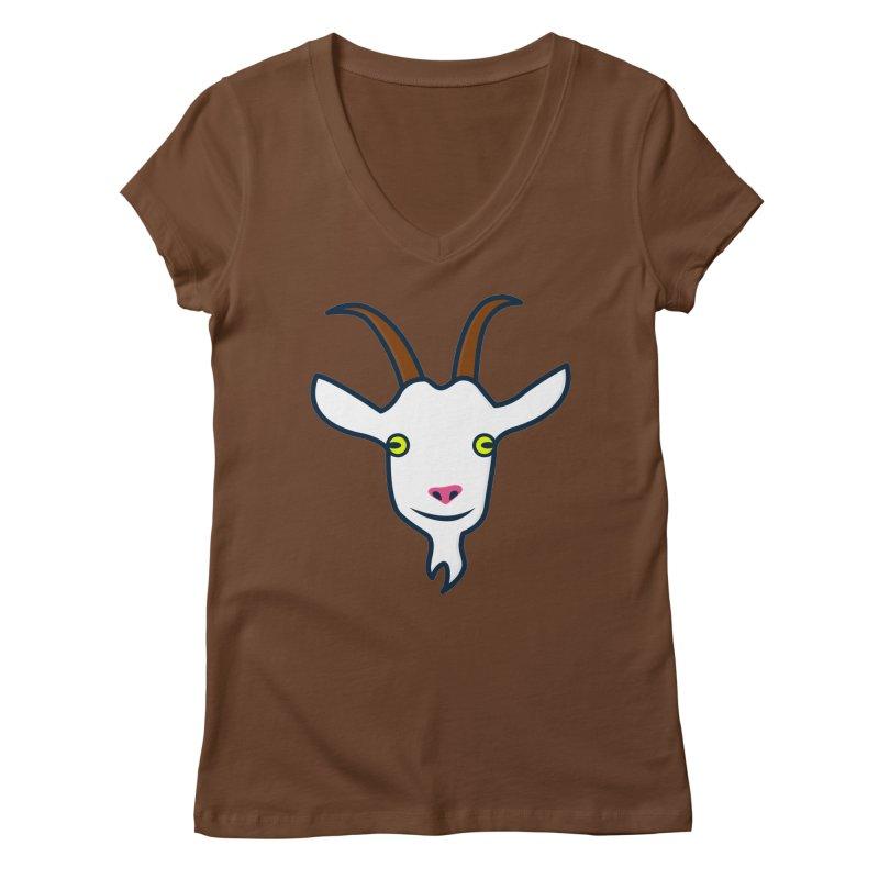 Goat Women's Regular V-Neck by