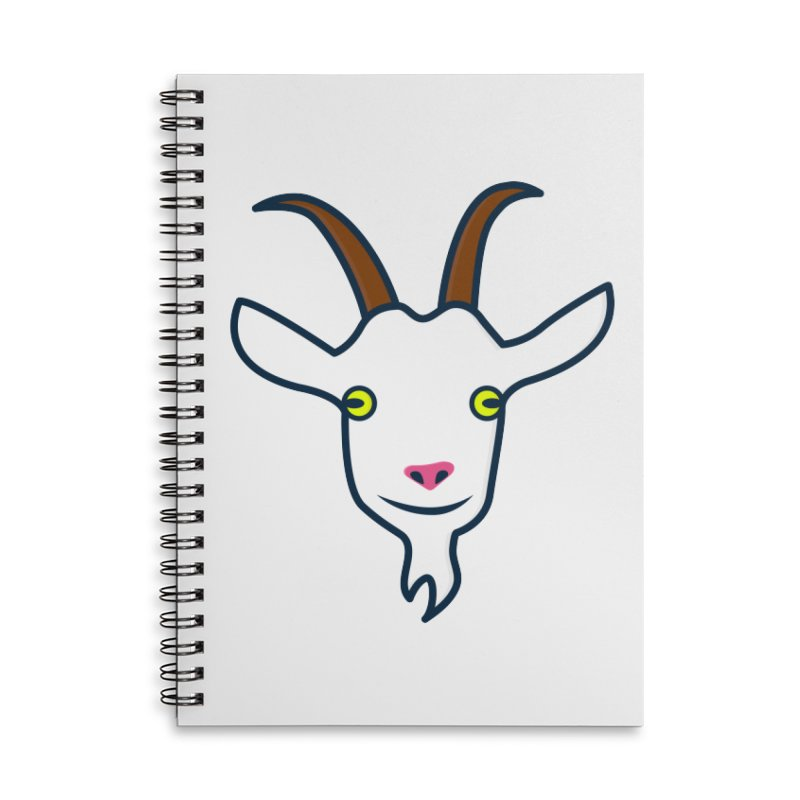 Goat Accessories Lined Spiral Notebook by