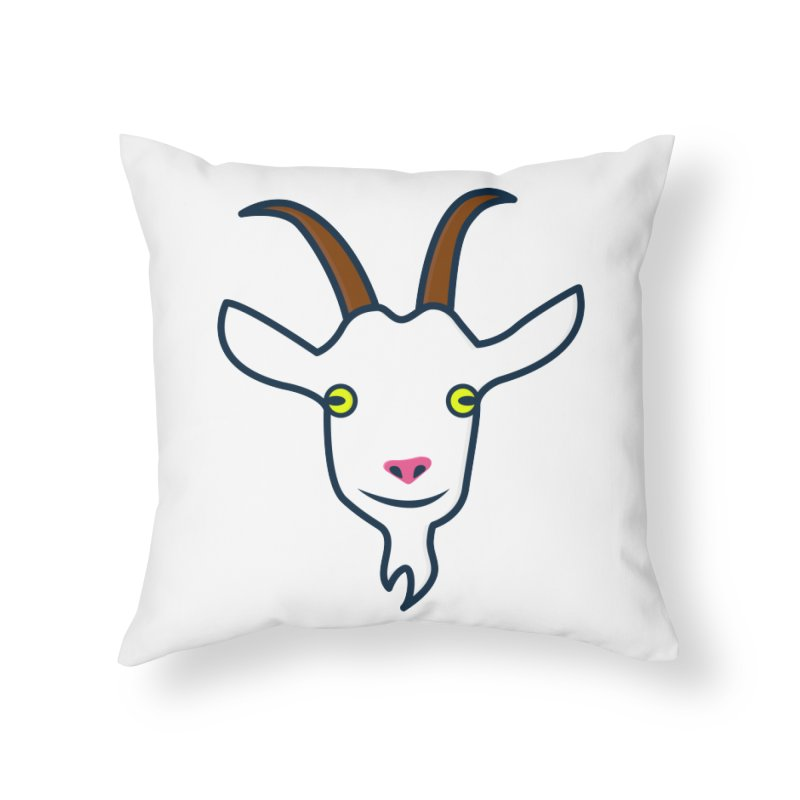 Goat Home Throw Pillow by