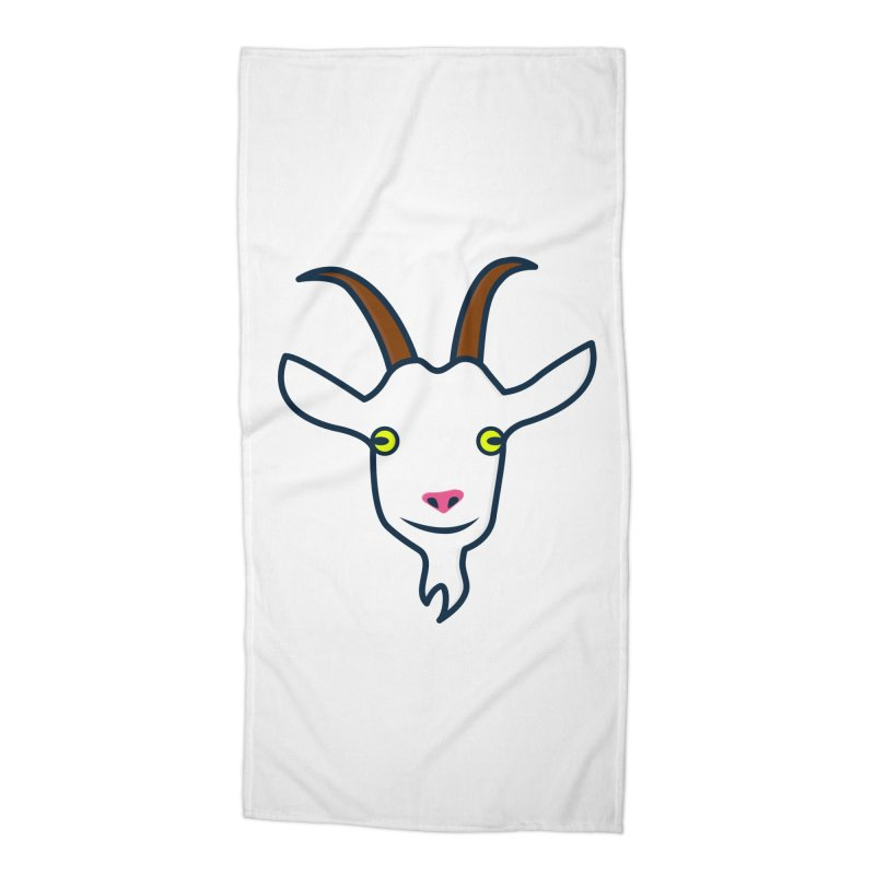 Goat Accessories Beach Towel by