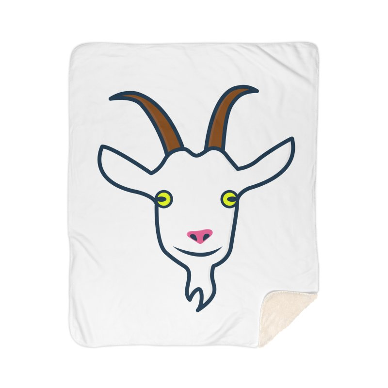 Goat Home Sherpa Blanket Blanket by