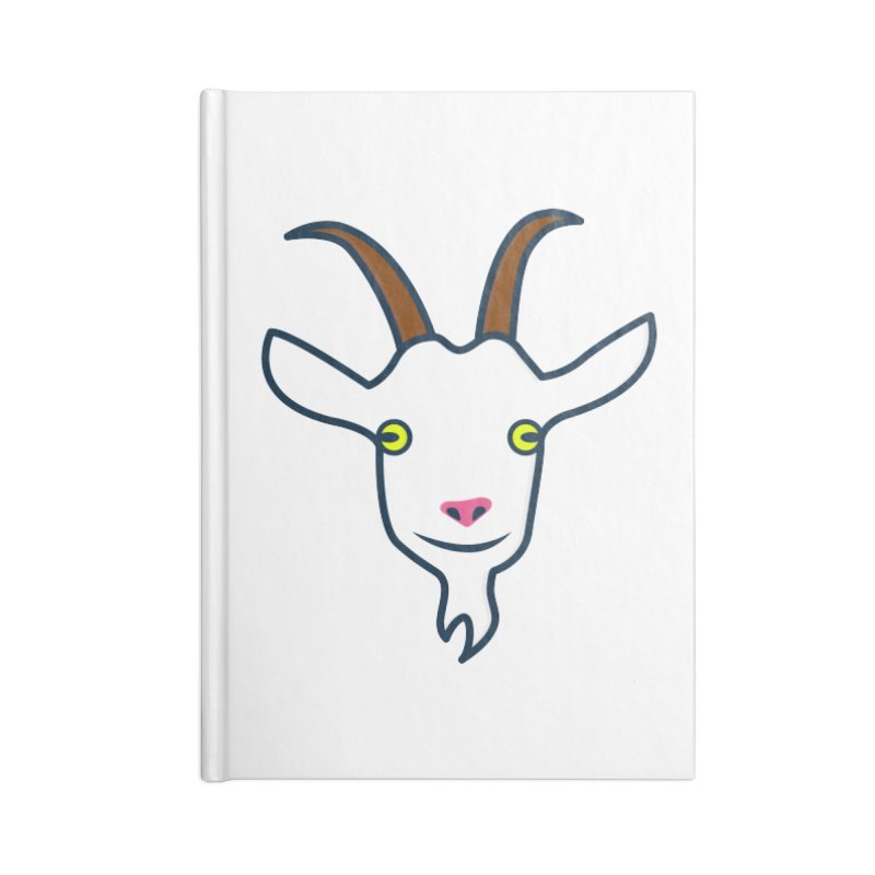 Goat Accessories Lined Journal Notebook by