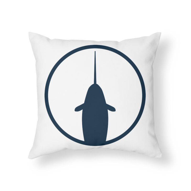 Narwhal Home Throw Pillow by