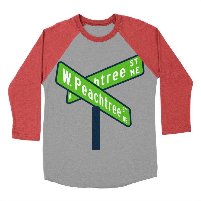 Peachtree Streets Men's Baseball Triblend Longsleeve T-Shirt by