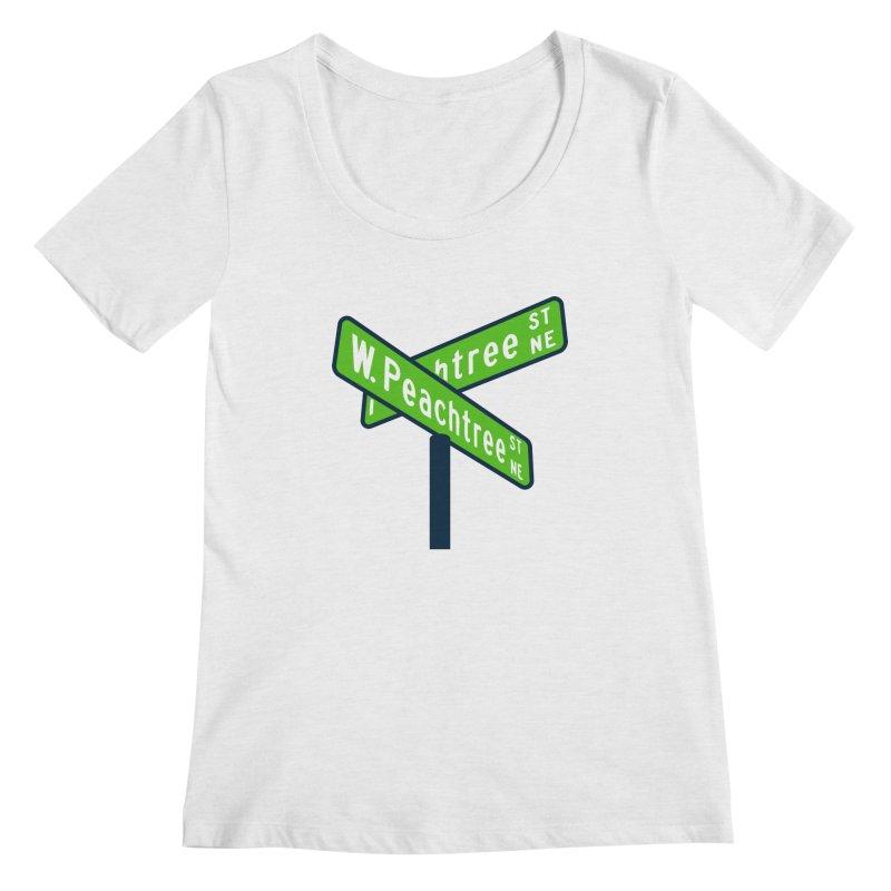Peachtree Streets Women's Regular Scoop Neck by