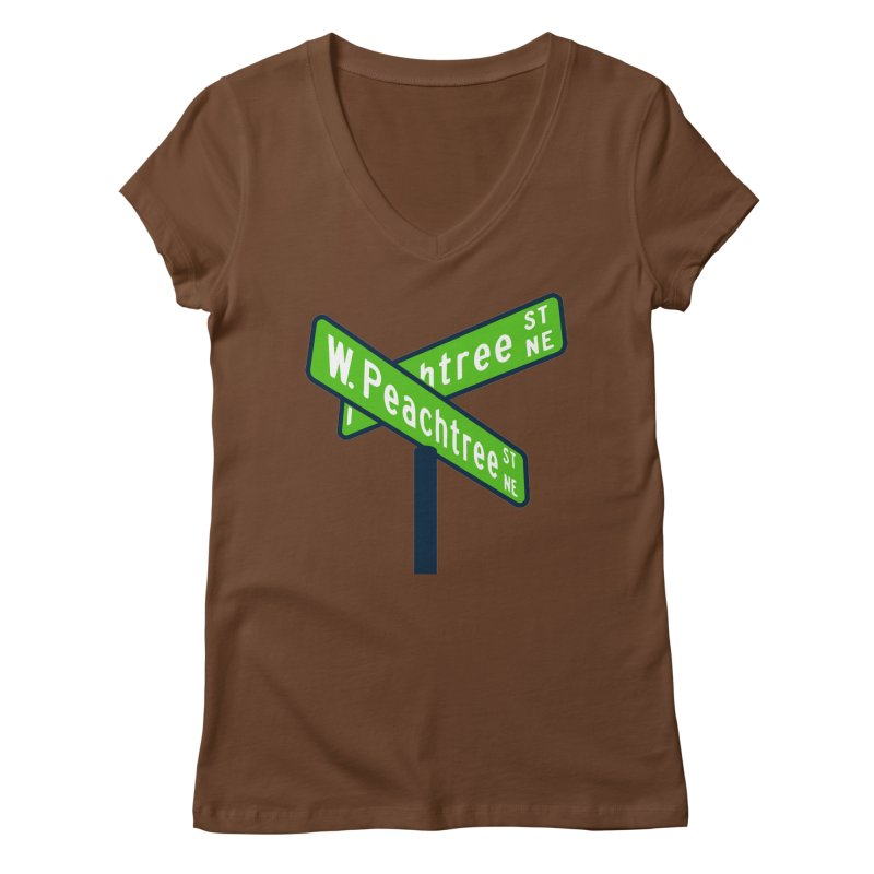 Peachtree Streets Women's Regular V-Neck by