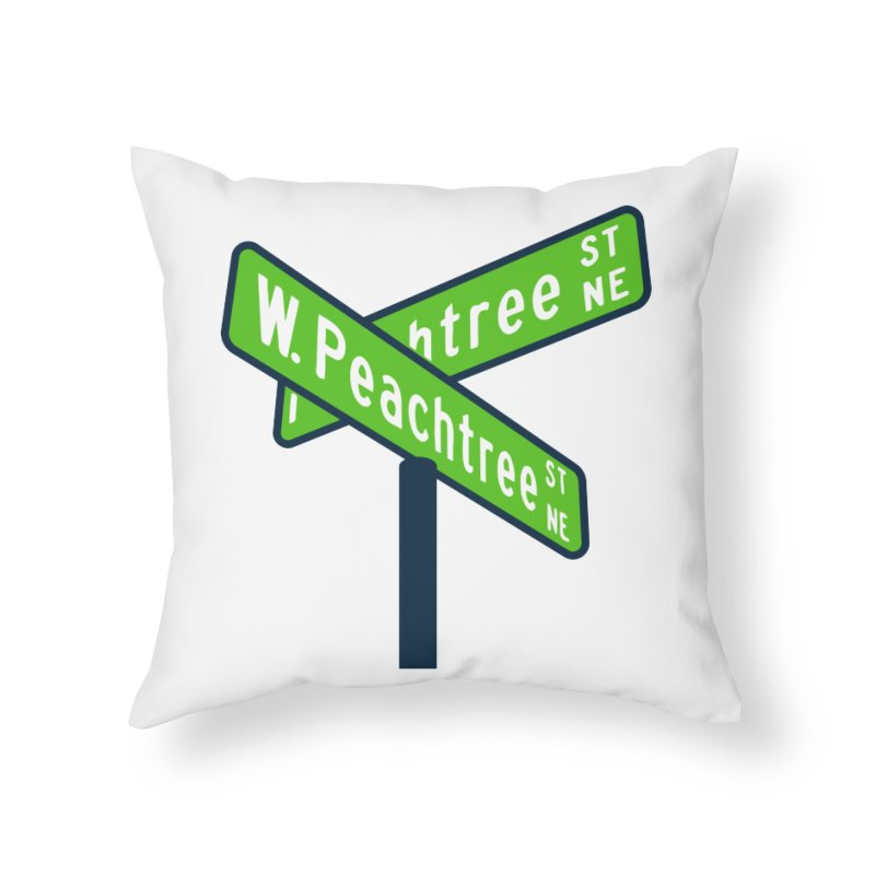 Peachtree Streets Home Throw Pillow by