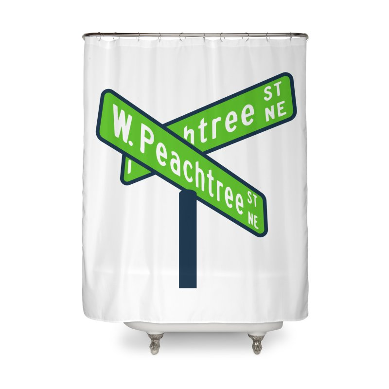 Peachtree Streets Home Shower Curtain by