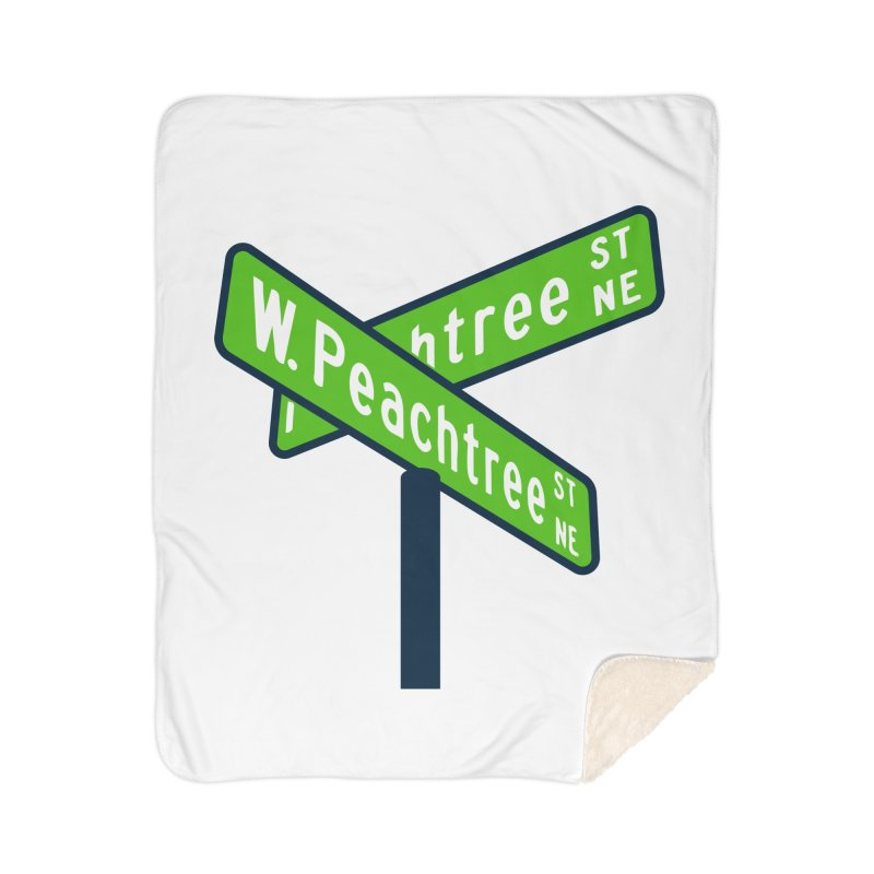 Peachtree Streets Home Sherpa Blanket Blanket by