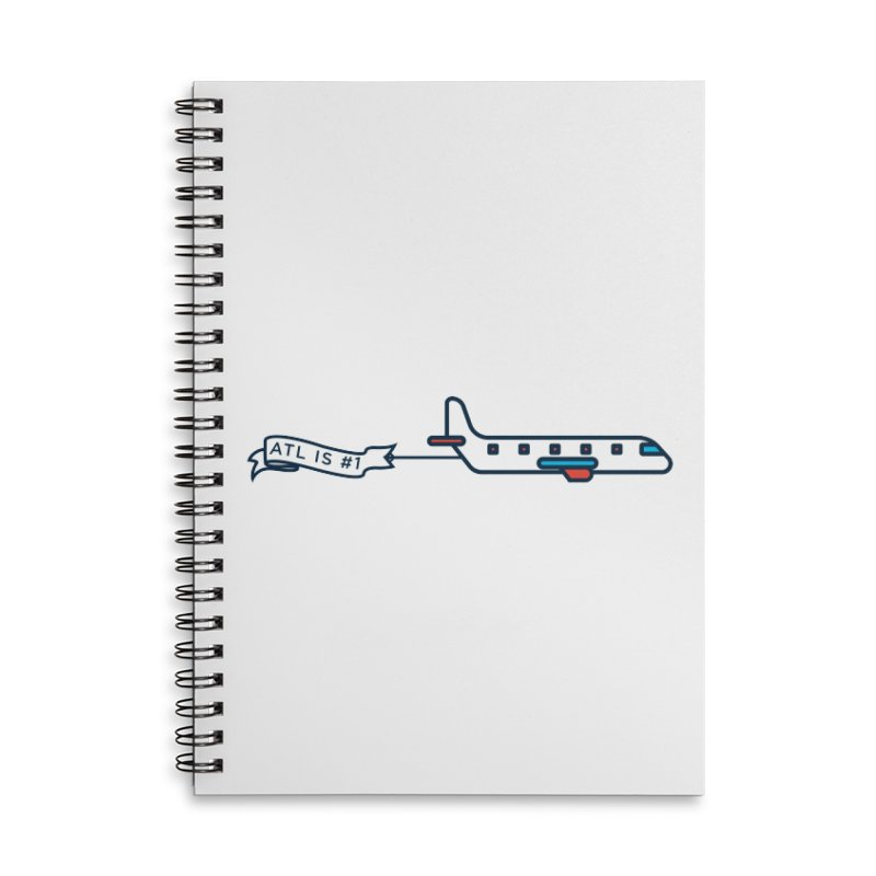 Plane Accessories Lined Spiral Notebook by