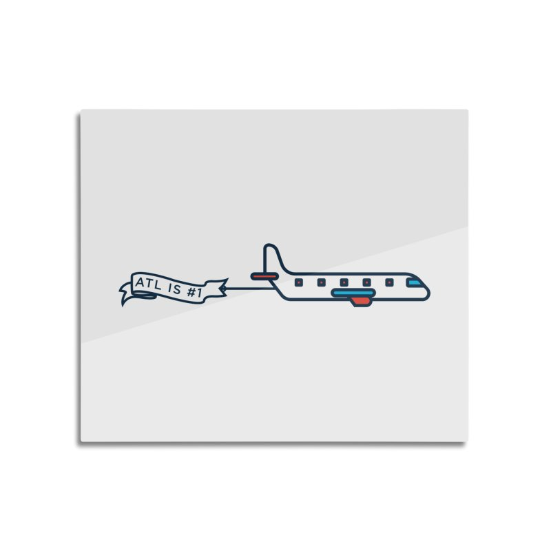 Plane Home Mounted Aluminum Print by