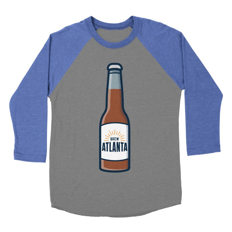 Brew Atlanta Men's Baseball Triblend Longsleeve T-Shirt by