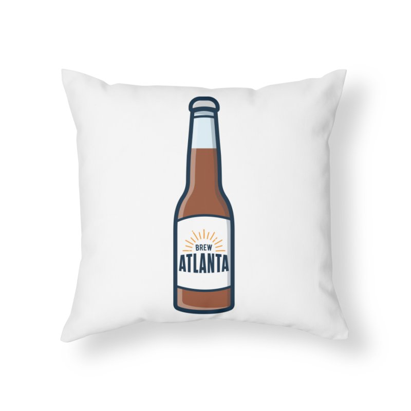 Brew Atlanta Home Throw Pillow by