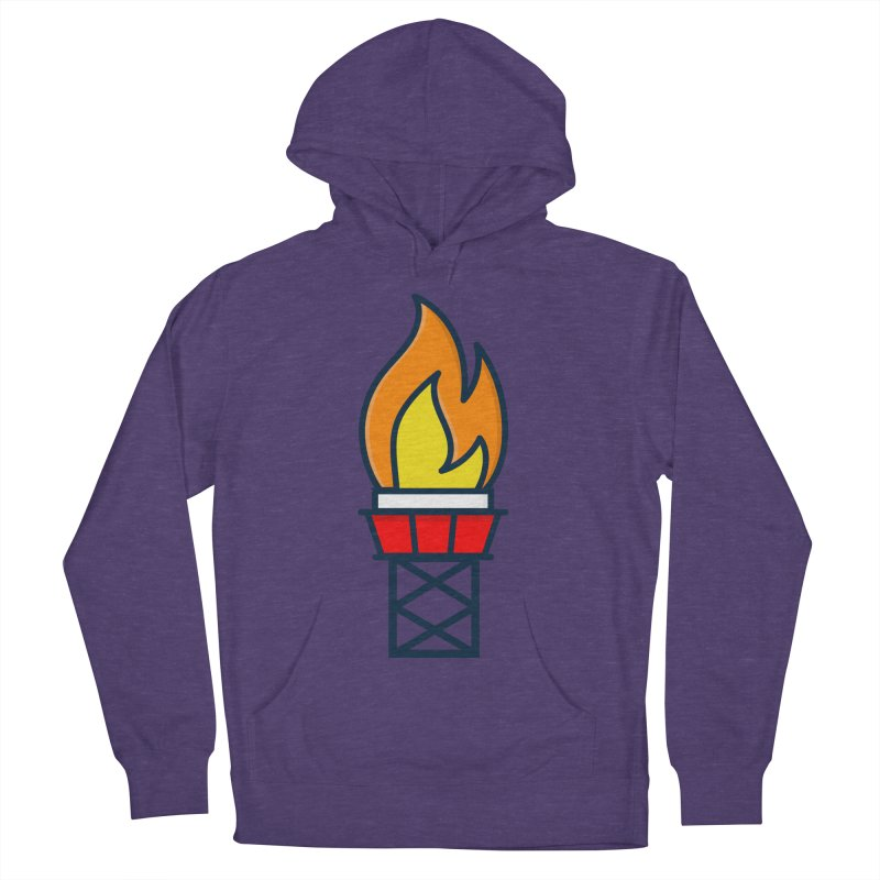 Olympic Torch Men's French Terry Pullover Hoody by