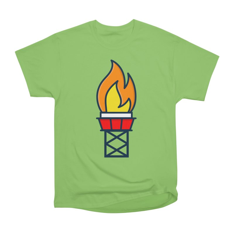 Olympic Torch Women's Heavyweight Unisex T-Shirt by