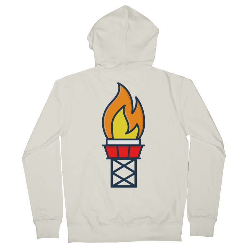 Olympic Torch Women's French Terry Zip-Up Hoody by