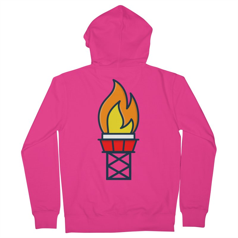 Olympic Torch Men's French Terry Zip-Up Hoody by