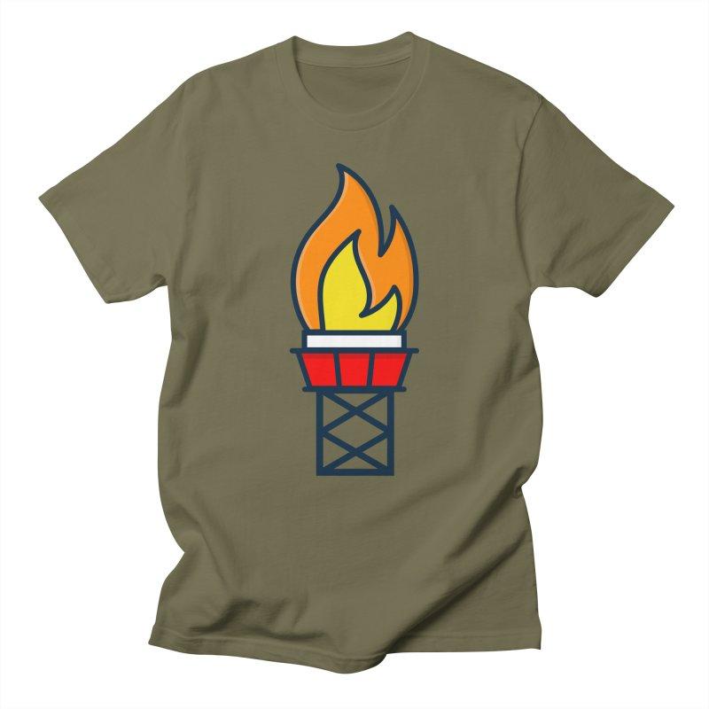 Olympic Torch Men's Regular T-Shirt by