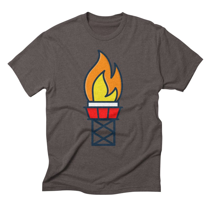 Olympic Torch Men's Triblend T-Shirt by